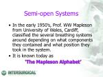 semi open systems