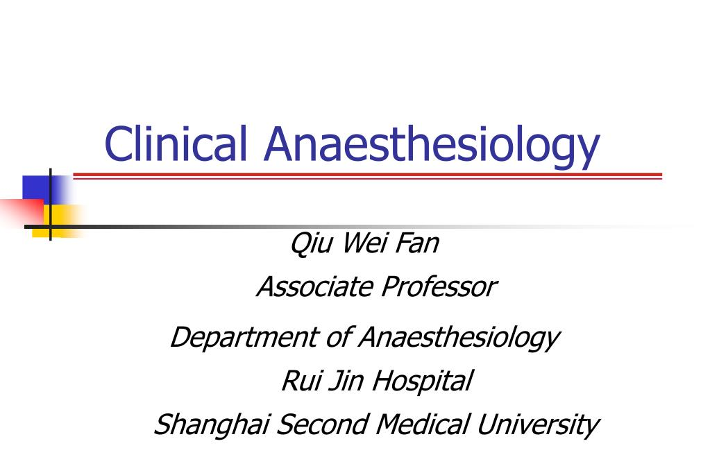 clinical anaesthesiology l.