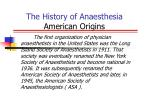 the history of anaesthesia american origins7