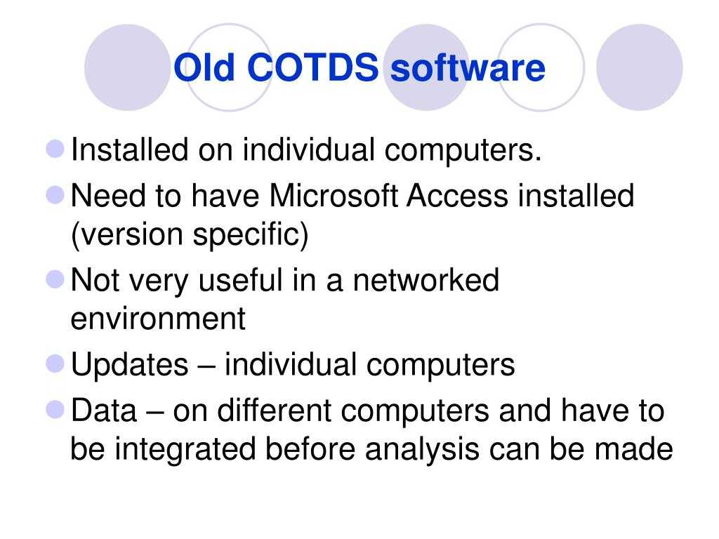 old cotds software l.