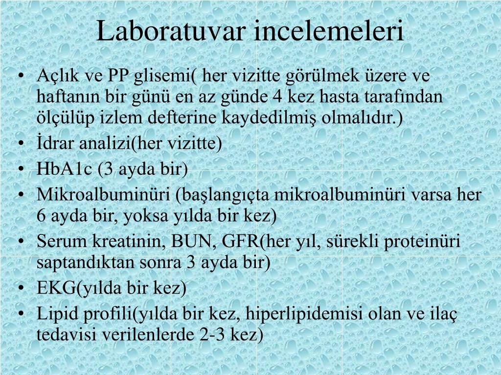 Laboratuvar incelemeleri