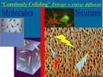 ceaselessly colliding entropy energy diffusion molecules neurons