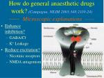 how do general anaesthetic drugs work campagna nejm 2003 348 2110 24 microscopic explanations