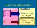 microstates and macrostates