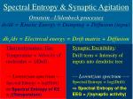 spectral entropy synaptic agitation