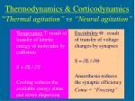 thermodynamics corticodynamics thermal agitation vs neural agitation25