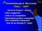 addressable release tool art