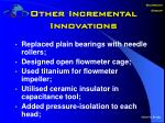 other incremental innovations