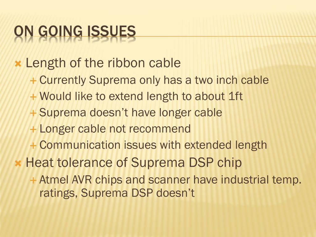 Length of the ribbon cable