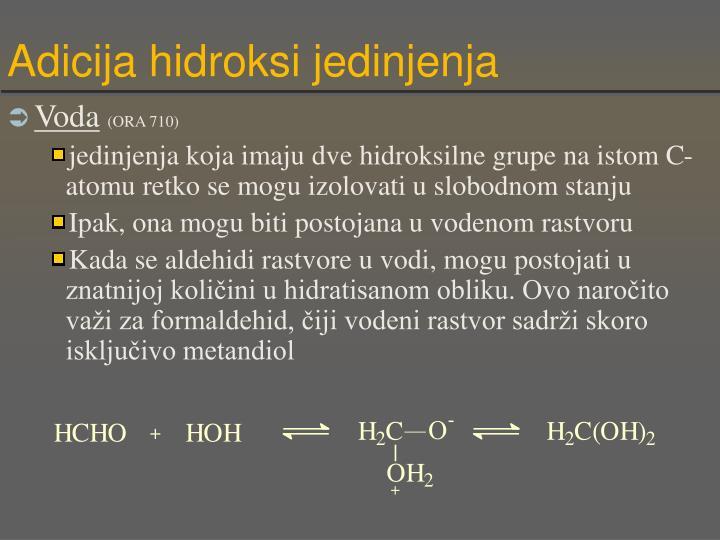 Adicija h