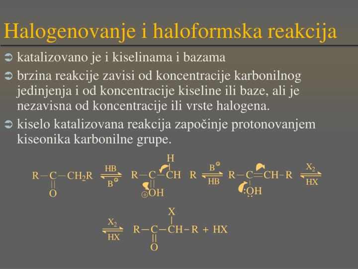 Halogenovanje i haloformska reakcija