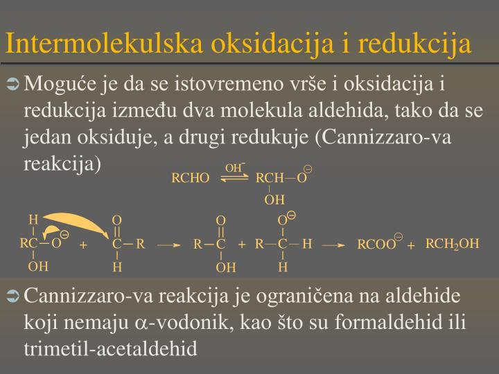 Intermolekulska oksidacija i redukcija