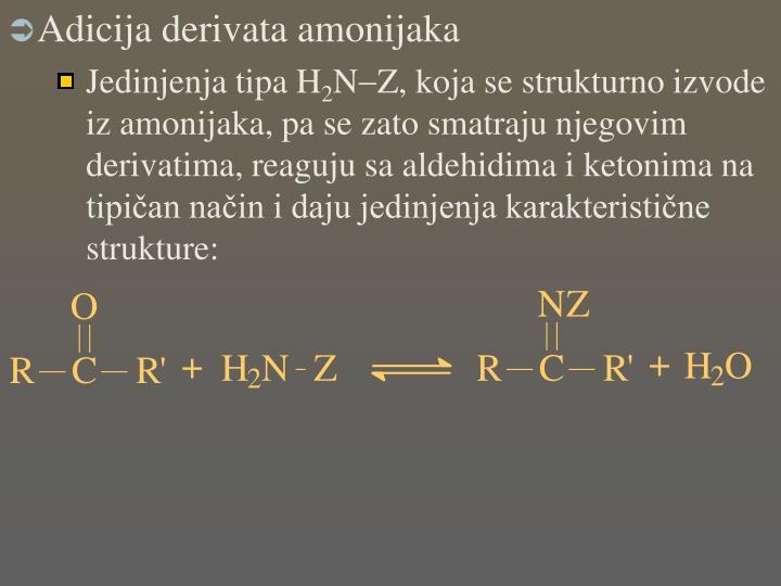Adicija derivata amonijaka