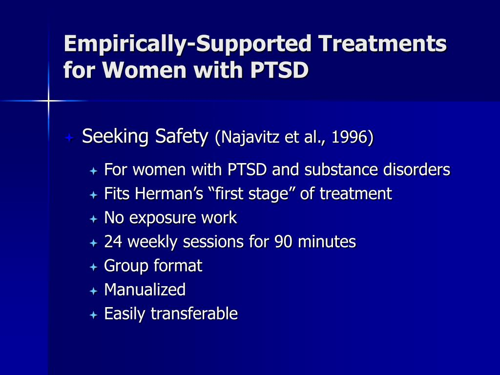 Empirically-Supported Treatments for Women with PTSD