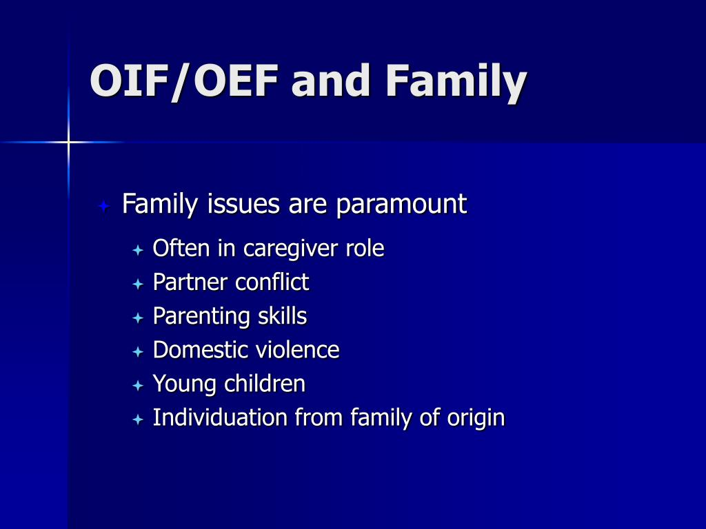 OIF/OEF and Family