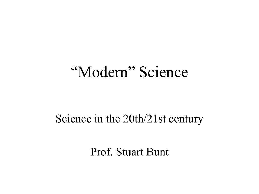 modern science l.