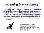 increasing science literacy