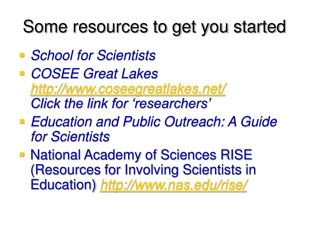 Some resources to get you started