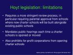 hoyt legislation limitations30