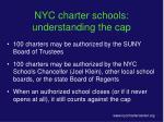 nyc charter schools understanding the cap