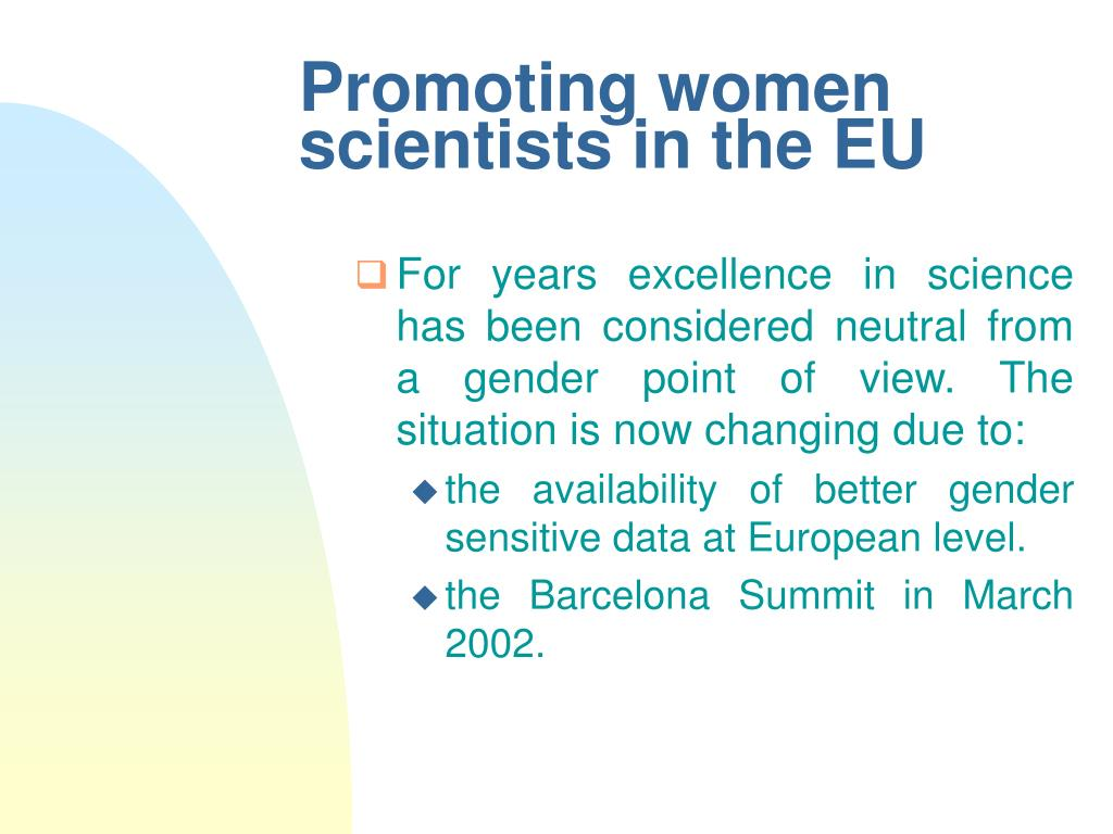 promoting women scientists in the eu l.