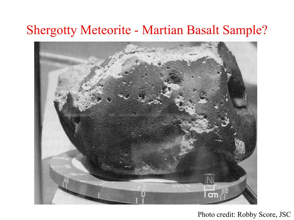Shergotty Meteorite - Martian Basalt Sample?