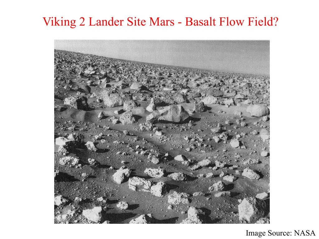 Viking 2 Lander Site Mars - Basalt Flow Field?