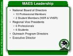maes leadership