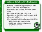 national collaborative endeavors