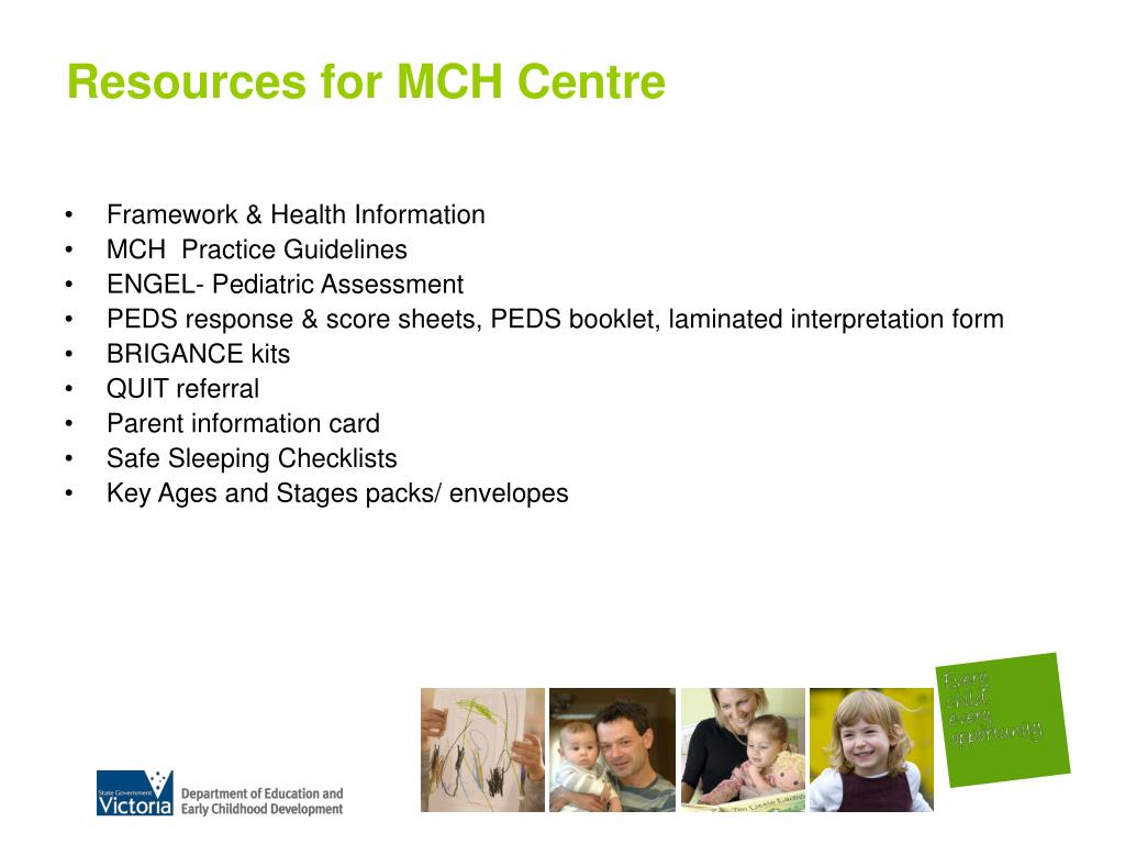Resources for MCH Centre
