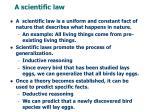 a scientific law