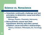 science vs nonscience