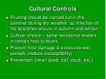 cultural controls