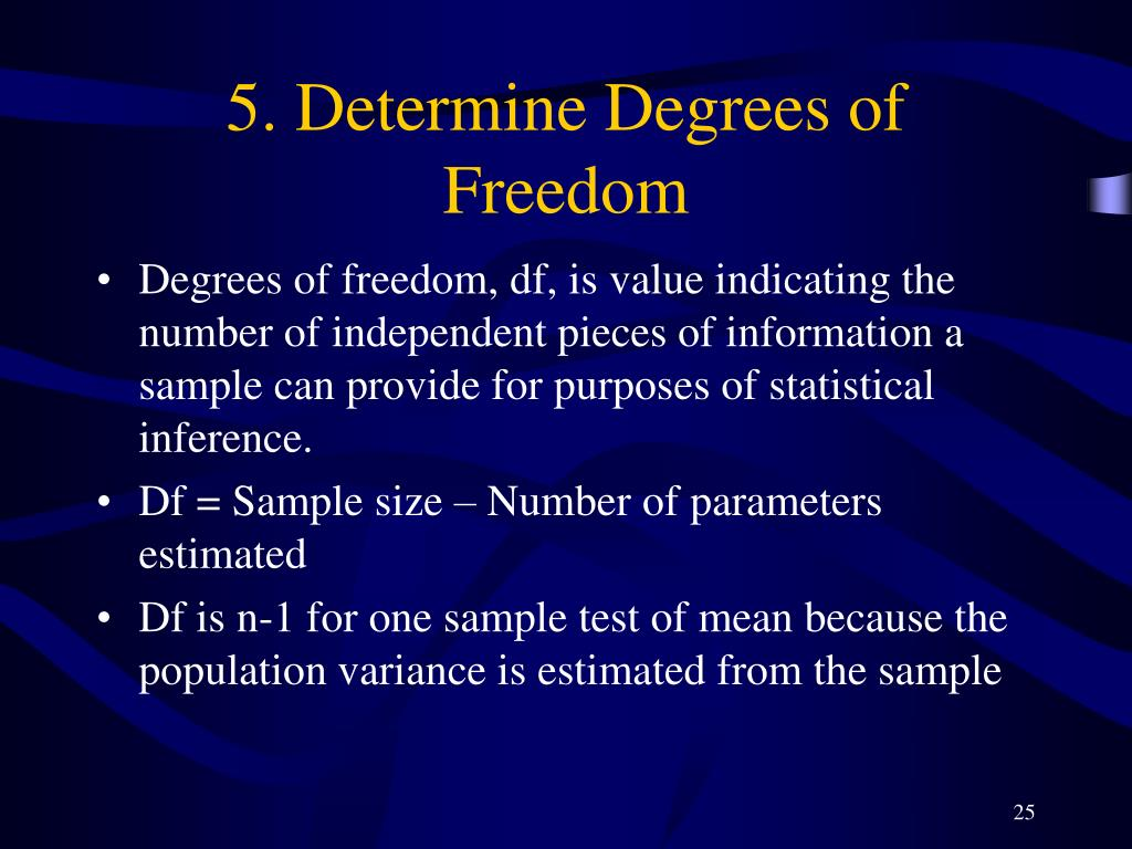 5. Determine Degrees of Freedom