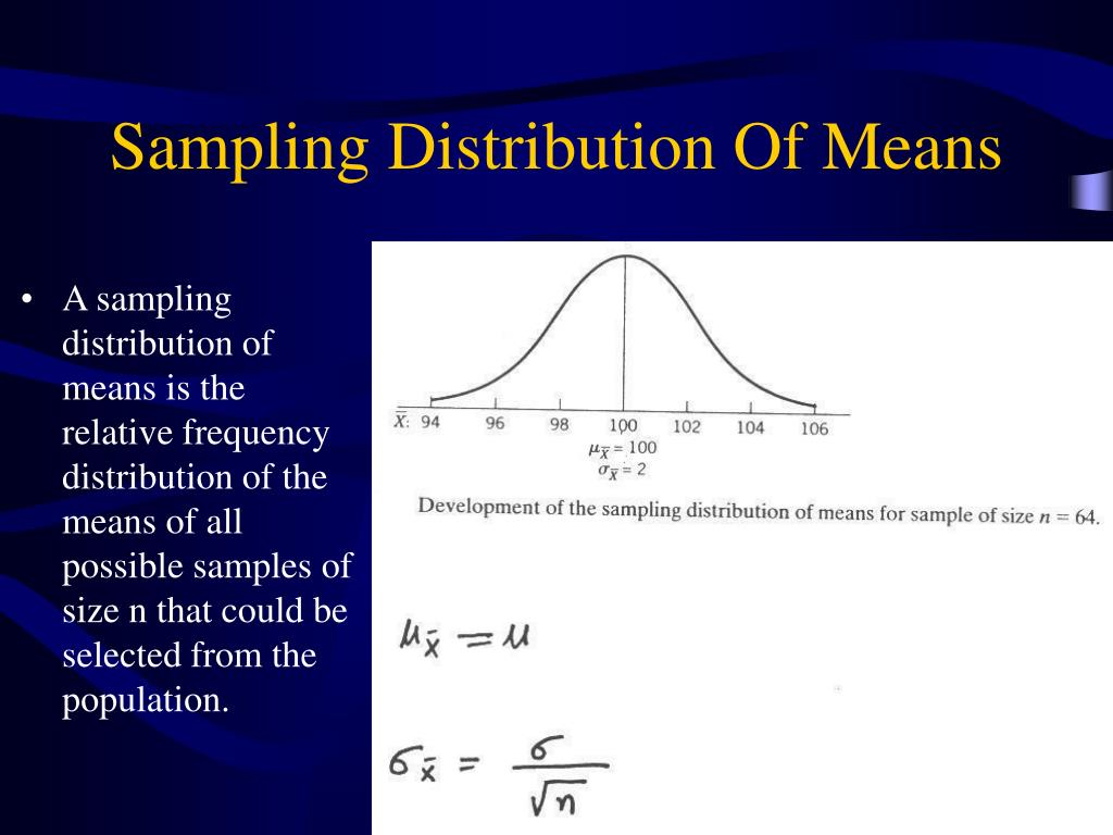 Sampling Distribution Of Means