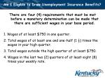 am i eligible to draw unemployment insurance benefits