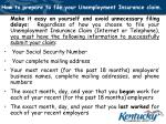 how to prepare to file your unemployment insurance claim