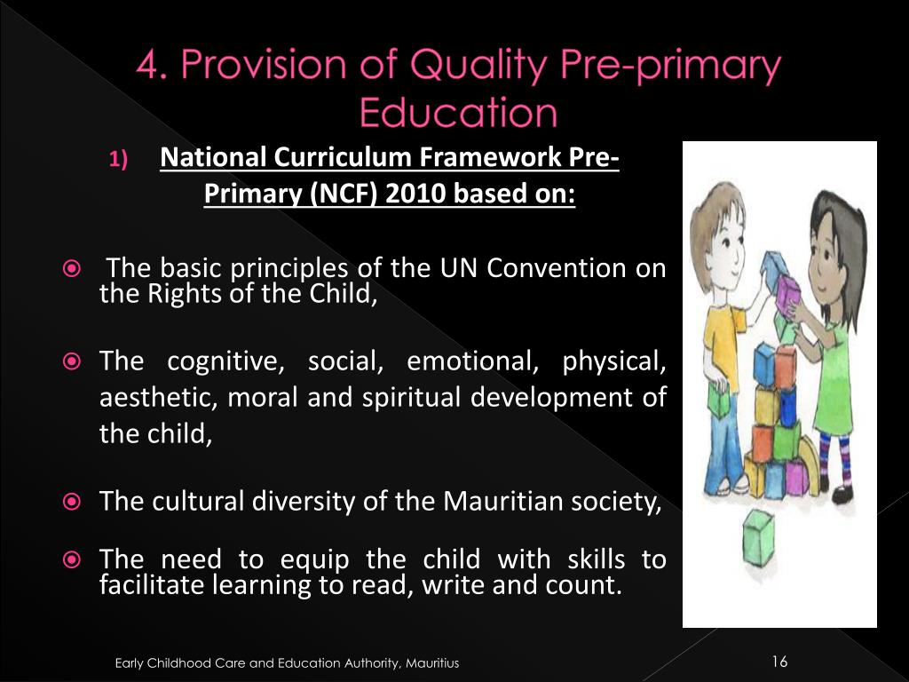 4. Provision of Quality Pre-primary Education