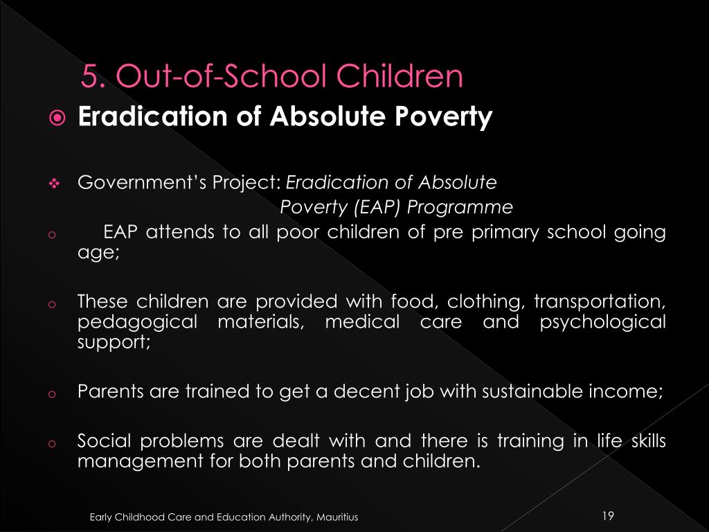 5. Out-of-School Children