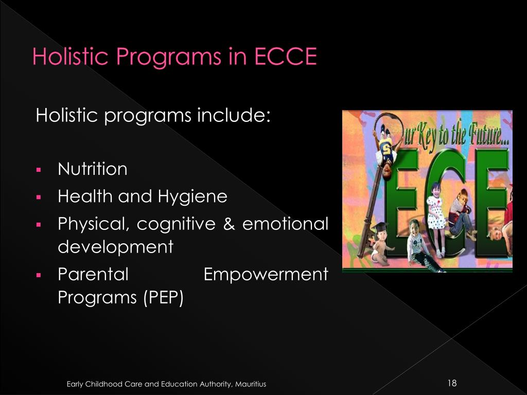 Holistic Programs in ECCE