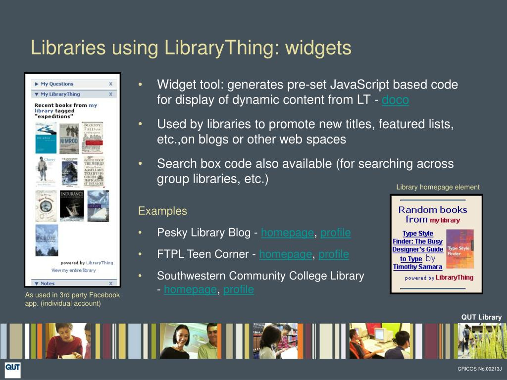 Libraries using LibraryThing: widgets
