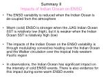 summary ii impacts of indian ocean on enso