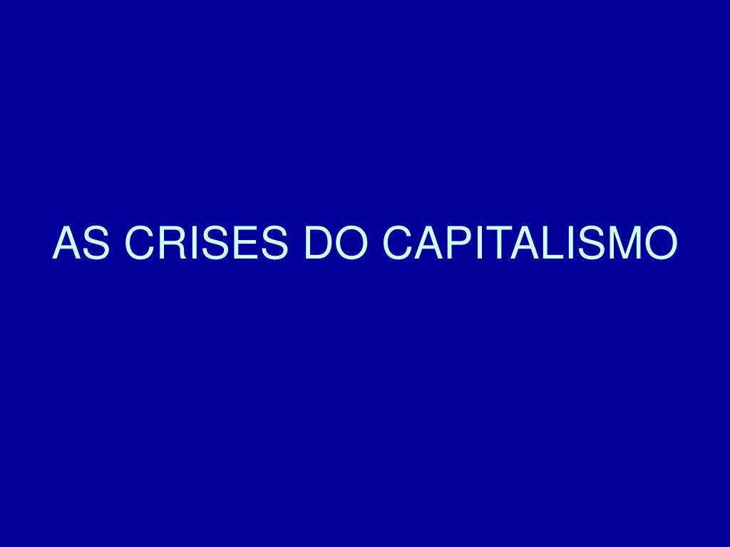 as crises do capitalismo