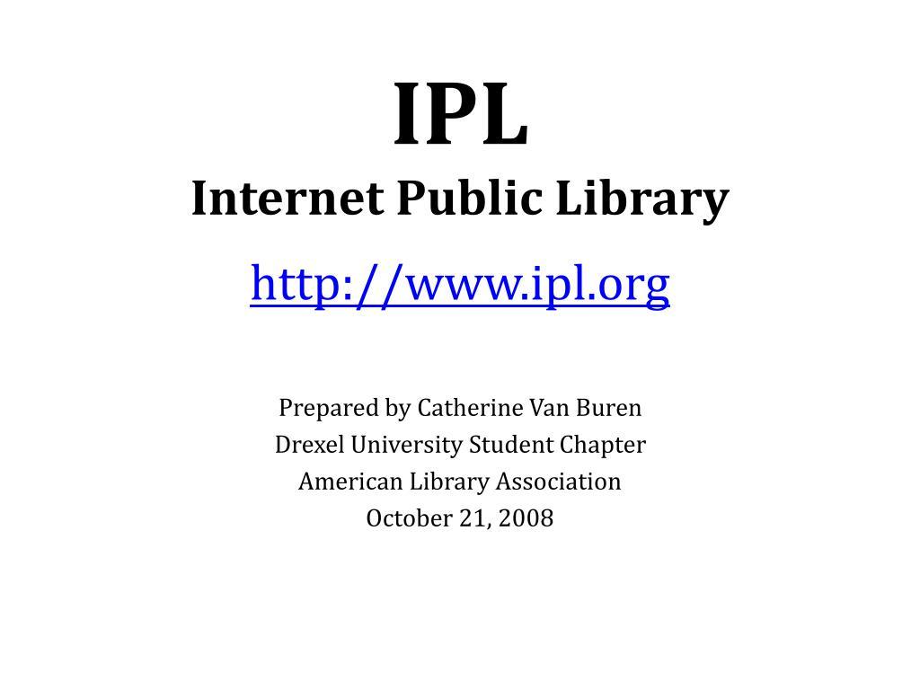 ipl internet public library l.