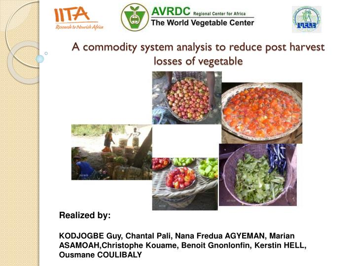 a commodity system analysis to reduce post harvest losses of vegetable n.