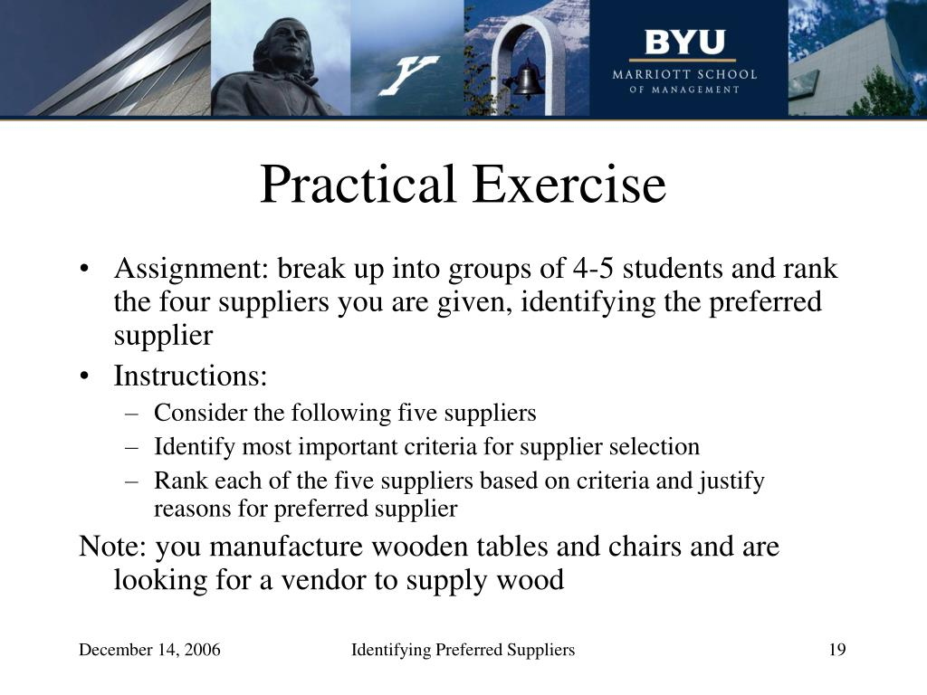 Practical Exercise