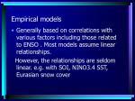 empirical models