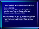 interannual variation of the monsoon