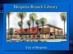 hesperia branch library