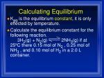 calculating equilibrium